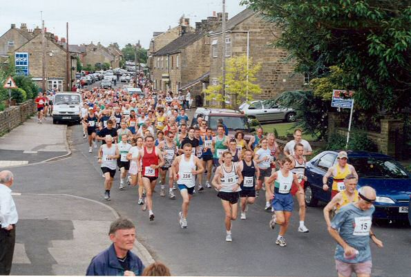 This photo of the start of the 2004 Kirkby Malzeard 10K was taken by Eric Nutter
